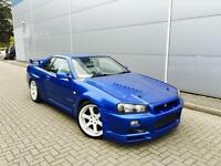 1998 Nissan Skyline R34 2.5 GTT Turbo Manual + GTR Replica + BAYSIDE BLUE +