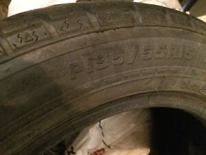 Four Motomaster SE2 tires, approx 80% tread.