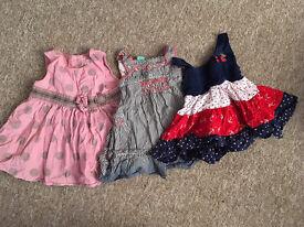 3 baby girl dresses 0-3 months