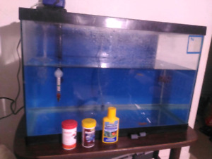OBO20 gallon fish tank with filter, air pump and fishOBO