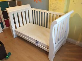 Boori Country Sleigh 3 in 1 Cot Bed