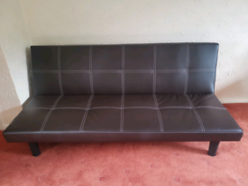 3 seater faux leather sofa bed