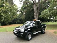 2004 Mitsubishi L200 2.5 TD Ltd Warrior LWB Double Cab 4x4 Pick Up Truck Black