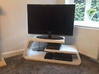 White Contemporary Brevie TV Stand for TVs up to 60""