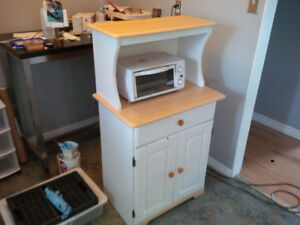 kitchen hutch toaster oven microwave suitable