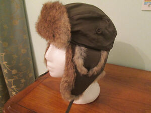 Winter Aviator Hat with real fur for boy or girl.
