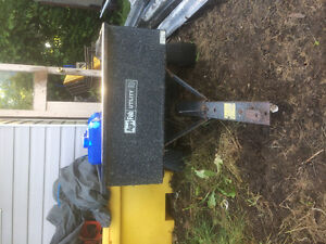 Utility lawn tractor trailer great condition sold as is