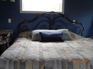 9 year old kingsize bed, mattresses and headboard