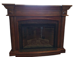 REDUCED:  large rosewood LED fireplace that cost $2000