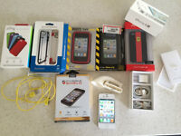 Mint Shape iPhone 4s With Box & Tons of Extra New Accessories!