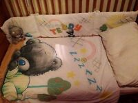 Tatty baby bear cot bed bedding