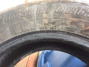 Used Winter tires size 215/65R16