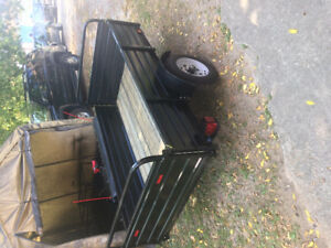 "2000 Lb axle 4' 4"" x 7 FT UTILITY TRAILER tilt n load"