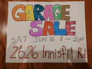 Garage Sale this Saturday