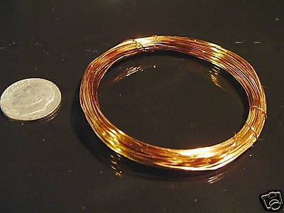 D00013 15ft Brz-Solid non tarnish copper craft wire-26g