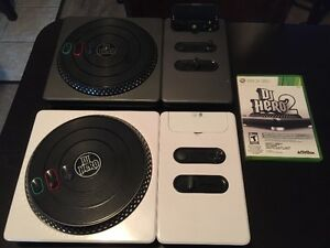 JEUIX DJ HERO 2 pour Xbox one INCLUANT 2 TABLE TOURNANTE