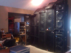 60,000watts of speakers and amps.