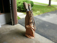 *** PERFECT !!! MacGregor Leather Golf Bag & Clubs !!! ***