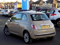 2014 64 FIAT 500 1.2 LOUNGE 3DR * FULL LEATHER PAN ROOF *