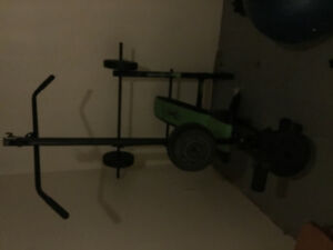 Gym bench and hand weights