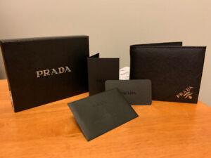 Brand New Parada Men Saffiano Black Bifold Wallet cost$650