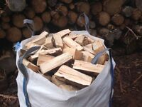 Firewood, Seasoned Softwood Logs, 3 big bags for £100