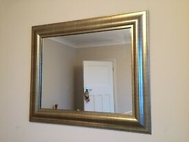 Gold effect mirror