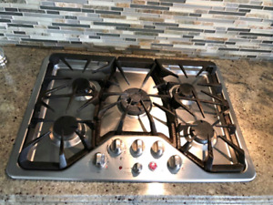"GE Cafe 30"" Gas stove top cooktop"