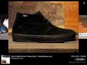 Vans Chukka Decon Fleece Black Size - 11.5