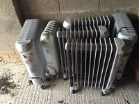 Six oil filled heaters