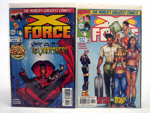 2 Marvel X-Force #69-70 Comic Books X-Men New Mutants Vanisher