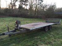 16ft car transporter trailer! Beaver tailed, hydraulic tilt, new tyres, new wiring + LED lights