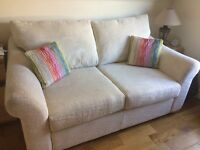 Cream Chenille Sofabed & Matching Love Chair (can be sold separately)