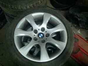"Bmw 18"" rims and tires London Ontario image 2"