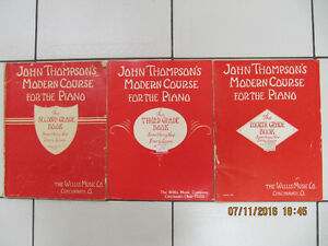 Vintage 3pc Lot John Thompsons Modern Course For The Piano 1937