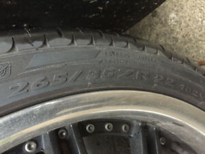 Rims with tire for sale