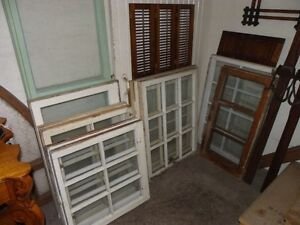 Good selection of Antique Wooden Windows.
