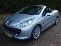 PEUGEOT 207 CC 1.6 ELLE, BLUE/BLACK DIAMOND STITCHED LEATHER, 68,000 MILES ONLY