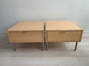 Birch Designer Bedside End Tables
