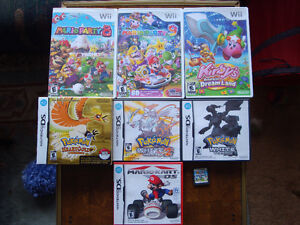 Wii & DS games for sale.