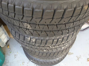 WINTER TIRES FOR SALE - BRIDGESTONE BLIZZ  WITH STEEL RIMS