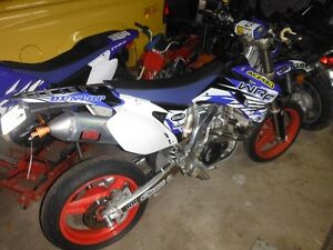 2008 wr 450 blue plated supermoto