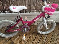 """Girls bike for sale - Dawes Lottie, pink, 16"""" wheels suit up to 7yrs, great condition - alloy frame"""