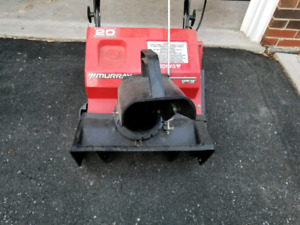 """Murray 20"""" electric snowthrower"""