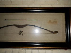 Bow and arrow in frame