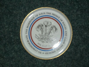 Prince Charles Lady Diana Marriage Plate