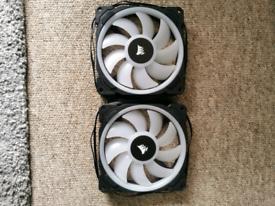 2 x corsair LL-140 rgb fans