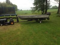 14 ' boat 30 hp evinrude and trailer