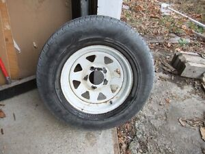 trailer rim and tire for sale