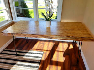 "72"" Live Edge Dining Table"